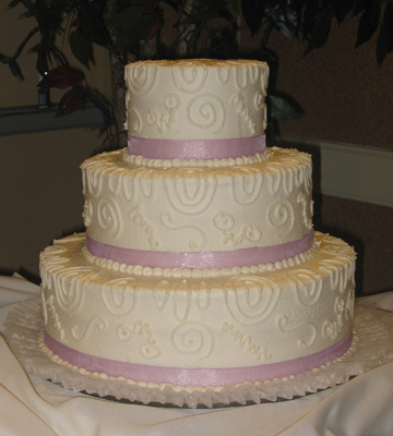 Swirls & Curls with Lavender Ribbon