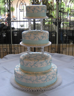 Light Blue Filigree & Ribbon