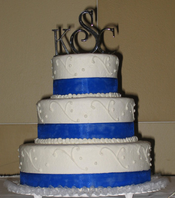 Swooping Scroll & Royal Blue Ribbon