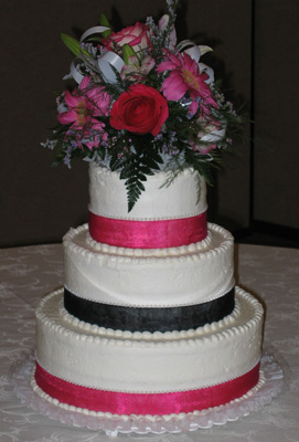 Smooth with Black & Hot Pink Ribbon