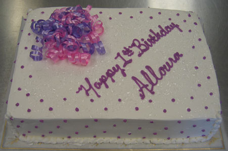 Lavender & Pink Ribbons with Lavender Dots on White
