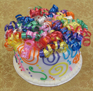 Multi Color Swirls & Curls w/ Multi Color Curling Ribbons