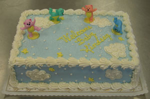 Tumble Bears Baby Shower Cake