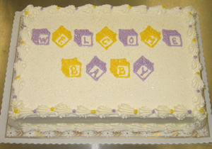Yellow & Lavender Blocks on White