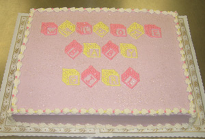 Pink & Yellow Blocks on Lavender